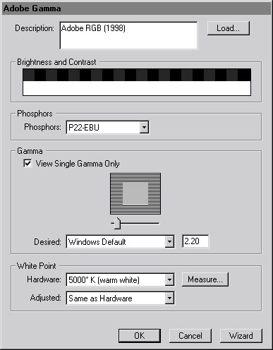 Adobe Gamma Setting